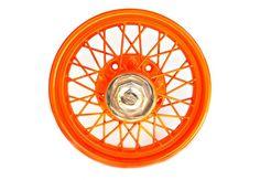 Lincoln Wheel Rim Orange powder coated rim - Lincoln wheel. http://www.charlieford.com