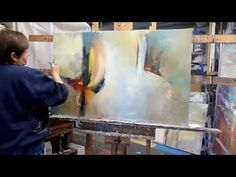 Abstract Painting 'Fractured Moment' Abstract art full demo. - YouTube