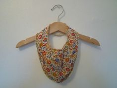 Liberty print dribble bib.  Coco & Wolf on Etsy.