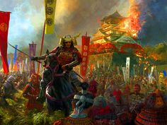 """""""Sasaki Takatsuna"""" during the Genpei War, the great conflict between the Minamoto and Taira Clans"""