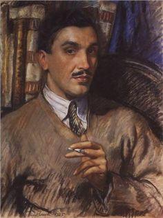 Zinaida Serebriakova (Russian, 1884-1967) - Portrait of architect A. J. Beloborodov, 1925