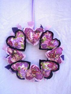 Purple flower fairy heart wreath by dreamstar1904, via Flickr