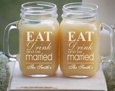 Rustic Mason Jar, Barn Wedding Decor, Rustic Toasting Glasses, Mason Jar Glasses, Personalized Tumblers for Barn Wedding Favors