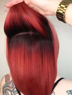 Gorgeous red hair color ideas for females with shadow roots to wear in 2018. These are awesome hair color trends for every woman to choose for her right now. As we know red is one of those colors which are much liked hair colors among women since last many years so we've compiled here the best ideas of red hair colors.