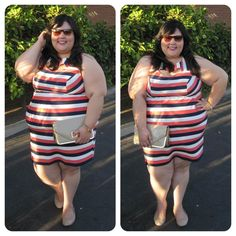 Fashion, Love, and Martinis: The Striped Dress #plussize #fashion #ootd #fatshion