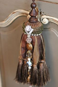 Romancing the Home. Buy beads from the jewelry dept to embellish tassels