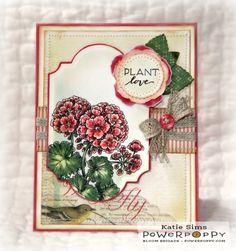 Geraniums Digital Stamp Set