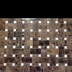 dark emperedor basket weave with marfil dots... $9.95/ sf   C-Line Marble & Granite, Inc.  2100 Jericho Tpke  New Hyde Park, NY 11040  516-742-8886 phone    www.CLineMarbleAndGraniteInc.com  or follow us on...  www.facebook.com/ClineStoneandTile   or  pinterest.com/clinestone/c-line-stone-s-in-stock-product-at-warehouse-price/