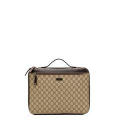 2945a967beab Gucci Unisex Original GG Supreme Beige Canvas Laptop Case Briefcase 267919