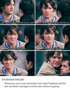 You brave little soldier>>omg i remember this episode- where they first met Gabe lol this one was funny!!!