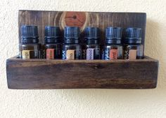 Hanging Wall Rack for Essential Oil Storage by BlueberriesAndBees