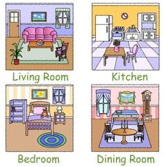 Room clipart my house - pin to your gallery. Explore what was found for the room clipart my house Flashcards For Kids, Worksheets For Kids, English Lessons, Learn English, Ingles Kids, House Clipart, English Activities, English Resources, Teaching Aids