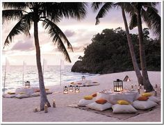 I would go for a dinner like this on the beach :)