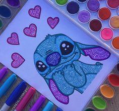 esta fue una de las ideas que me dieron espero les guste? Cute Disney Drawings, Cool Art Drawings, Pencil Art Drawings, Art Drawings Sketches, Drawing Faces, Colorful Drawings, Art Illustrations, Mandala Art Lesson, Mandala Drawing