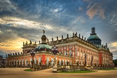 Sunset at New Palace, Sanssouci Park Potsdam, Germany