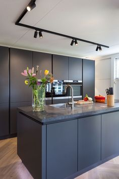 modern farmhouse kitchen are offered on our internet site. Have a look and you wont be sorry you did. Grey Kitchen Designs, Luxury Kitchen Design, Kitchen Room Design, Home Room Design, Interior Design Kitchen, Kitchen Decor, My Kitchen Rules, Open Plan Kitchen Living Room, New Kitchen