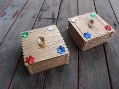 Popsicle stick treasure boxes... could be fun as part of our pirate adventures!