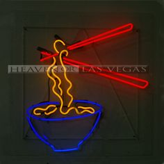 "neon sign-Bowl of Noodles 36""x 36"""