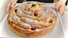 Great Desserts, Delicious Desserts, Dessert Recipes, Croation Recipes, Italian Pastries, Sweet Dough, Sweet Buns, Bread Cake, Croissant