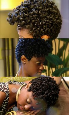 4 Ways to Rock Roller Sets and Bantu Knot Outs on Short Natural Hair 4 Ways to Rock Roller Sets and Bantu Knot Outs on Short Natural Hair