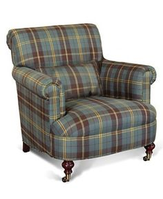 Ralph Lauren Interiors...Beautiful Tartan Chair