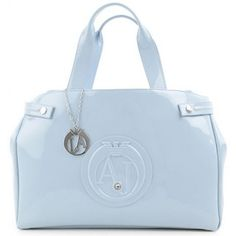 ARMANI JEANS Light Blue Patent Leather Tote Armani Jeans, Luxury Shoes, Patent Leather, Light Blue, Footwear, India, Brand New, Handbags, Tote Bag