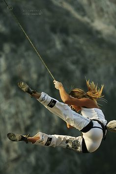 Maya Vidmar of Slovenia taking a fall!  Photo: Anna Piunova, Mountain.RU
