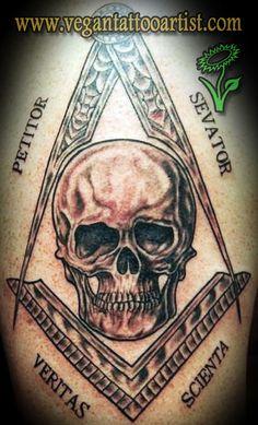 freemason tattoo with skull Skull Tattoos, Black Tattoos, Body Art Tattoos, Tribal Tattoos, Tatoos, Freemason Tattoo, Masonic Tattoos, Masonic Art, Masonic Symbols