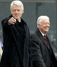 Presidents: Bill Clinton & Jimmy Carter - Bill, the guy everyone described as the smartest one in the room. A natural politician. Jimmy Carter, American Presidents, American History, Bill And Hillary Clinton, William Clinton, Air Force One, Historia Universal, Presidential History, My Champion