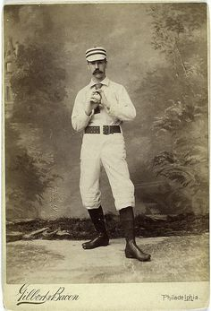 Photograph from the New York Public Library's Spalding Collection, a series of over 500 photographs, prints, drawings, caricatures, and printed illustrations donated in 1921 by early baseball player and sporting-goods tycoon A. G. Spalding (whose name to this day is printed across every ball used in the National League).