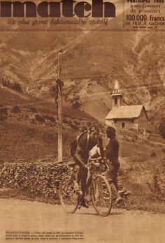 Tour de France 1937. 9^Tappa, 10 luglio. Briançon > Digne. Col d'Allos. Sylvère Maes (1909-1966) [Match]