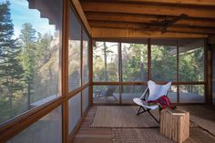 An open plan spills out onto a cantilevered deck as the floor disappears beneath your feet.  #TinyHouseforUs