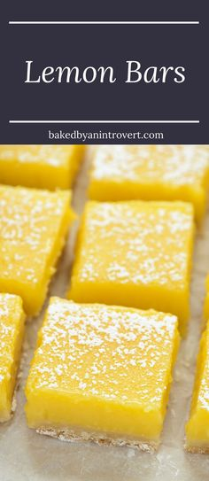 These simple lemon bars are sure to win your heart. They're zesty, slightly sweet, and beyond easy to make!