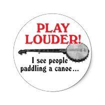 Play Louder Sticker by retrobanjo