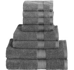 Get the most value for your money with a Top-Rated Bath Towel Set.Pamper yourself with the 100% Cotton 8-Piece Bath Towel Set made from soft and durable terry cloth. Each set comes with 2 Bath towels
