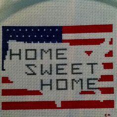 Crosstitch American Flag