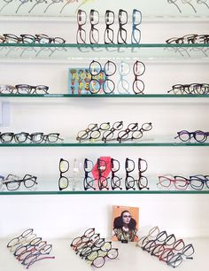 Eyeworks in Los Angeles, CA: My optical candy shop, where style meets craftsmanship and top-drawer service. Optometry Office, Store Window Displays, Glasses Shop, Optical Shop, Clinic Design, Showroom Design, Retail Design, Display Shelves, Visual Merchandising