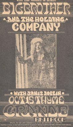 15.10.1968; big brother and the holding company; usa, detroit, grande ballroom; (db)