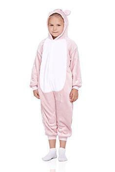 78337a91d9 Kids Piglet Pajamas Animal Onesie Kigurumi Plush Soft One Piece Cosplay  Costume Medium Cream pink        AMAZON BEST BUY     KidsCostumes