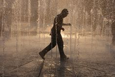 Public water fountain at the Ebrahim Park in Tehran on July 13, 2011. (Vahid Salemi/Associated Press
