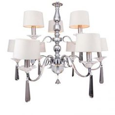 Hamilton Collection Chandelier 6 Arm Chandelier in Silver