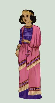 Mesopotamian fashion. Assyria .:2:. by Tadarida.deviantart.com on @DeviantArt