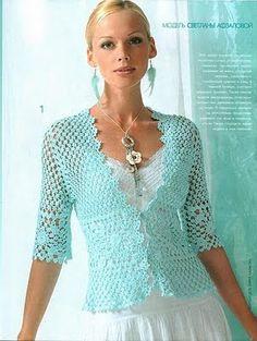 Crochet revenue: delicate crochet blouse