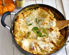 One Skillet Healthy Pumpkin Lasagna.....pair   With a white wine, 2010 D'Arenberg The Hermit Crab