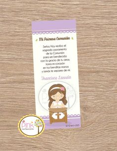 First Communion Favor Cards Bookmark Baptism Girl First Communion Favors, Card Stock, Etsy Seller, Paper, Prints, Cards, Ely, Products, Block Prints
