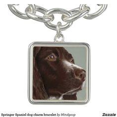 Springer Spaniel dog charm bracelet