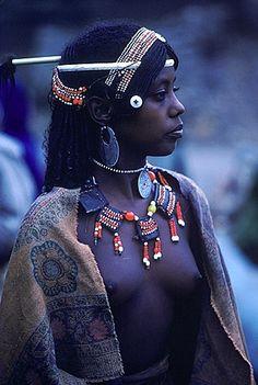 Africa | Young Afar woman, Bati, Ethiopia.