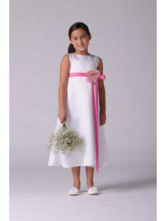 Tea Length Flower Girl Dresses 402015