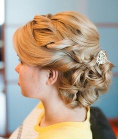curly updo with a twist