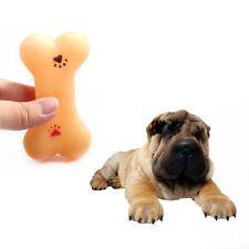 1PC pet dog welpen kauspielzeug weichen kleinen gummiknochen squeaky spielzeug